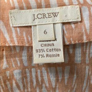 J. Crew Tops - GUC J.Crew Beige Pink Embellished Top size 6
